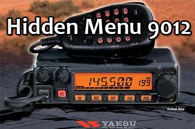 เมนูที่ถูกซ่อนไว้ของ YAESU FM-9012