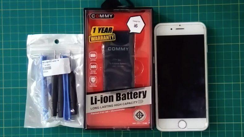 เปลี่ยนแบต iPhone 6 ด้วยตัวเอง ราคาเท่าไหร่ ยี่ห้อไหนดี