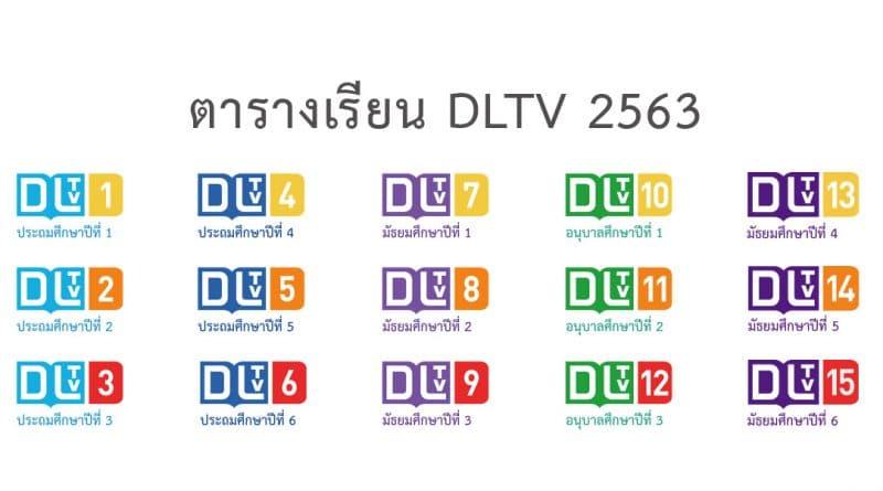 ตารางเรียนออนไลน์ dltv 2563