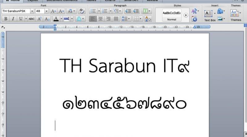 ทำไมควรเลิกใช้ฟอนต์ TH Sarabun IT9