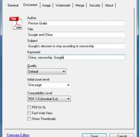 Bullzip PDF Printer แปลงไฟล์ PDF ได้แม้ติดพาสเวิร์ด