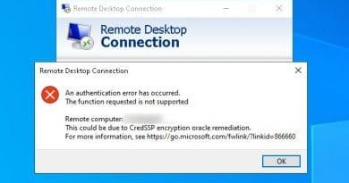 วิธีแก้ Remote Desktop ขึ้น This could be due to CredSSP encryption oracle remediation